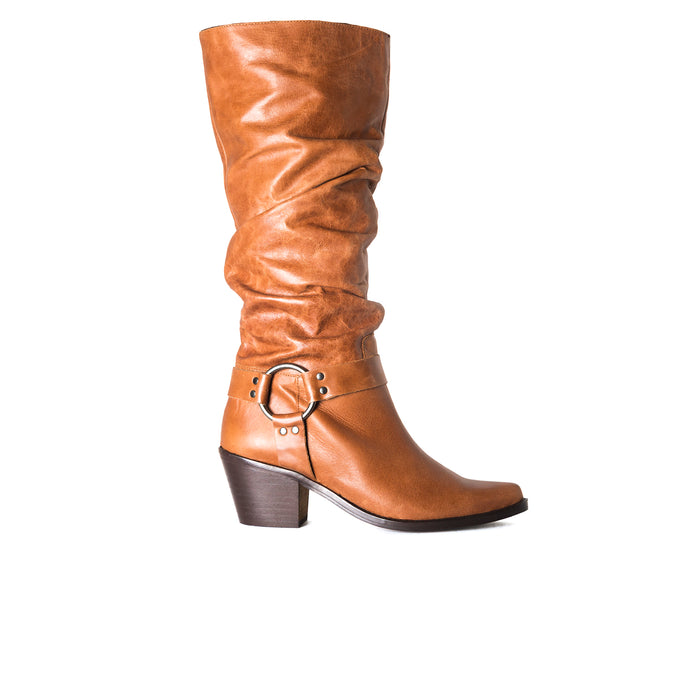 Arsta Cognac Leather Boots