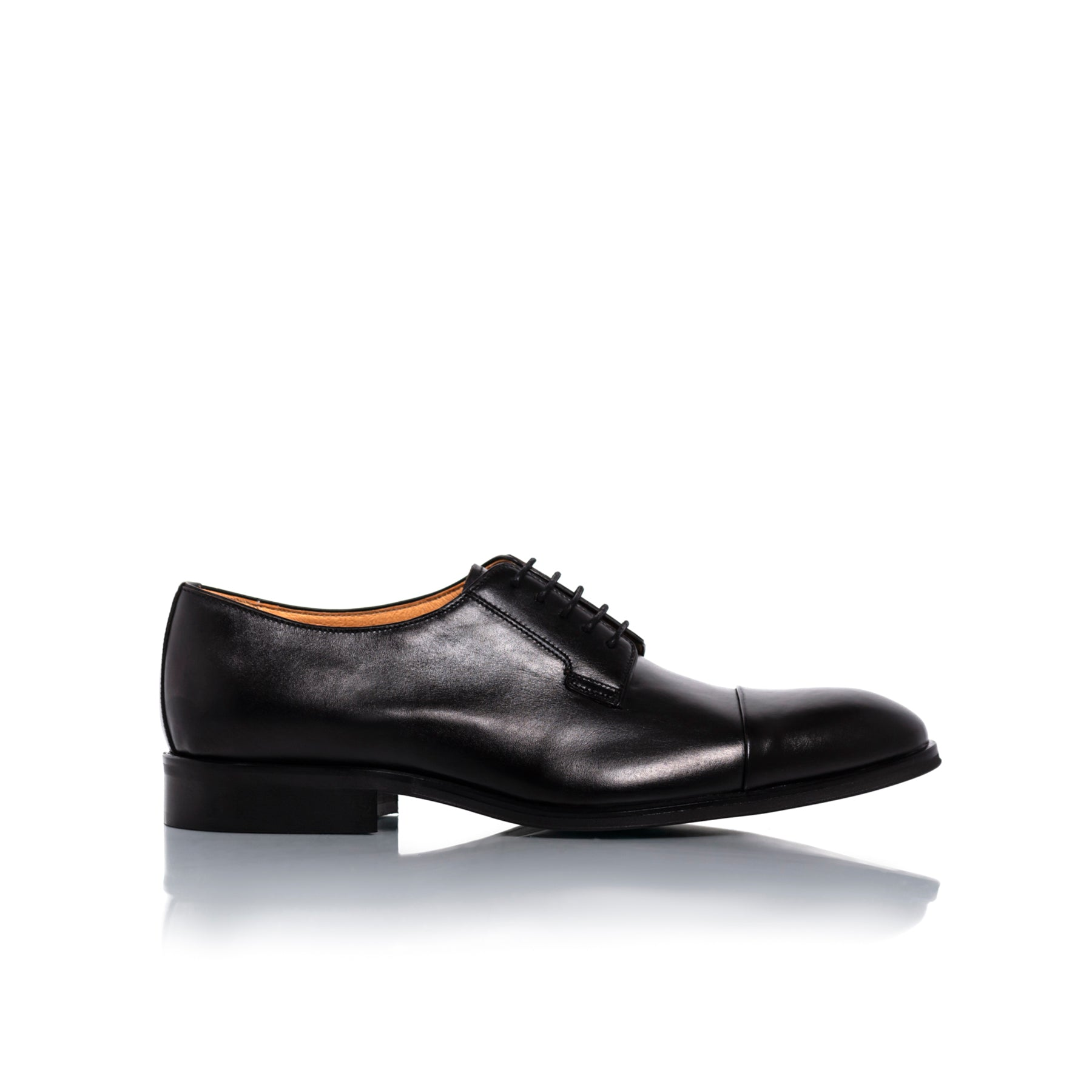 Barack Black Leather Shoes