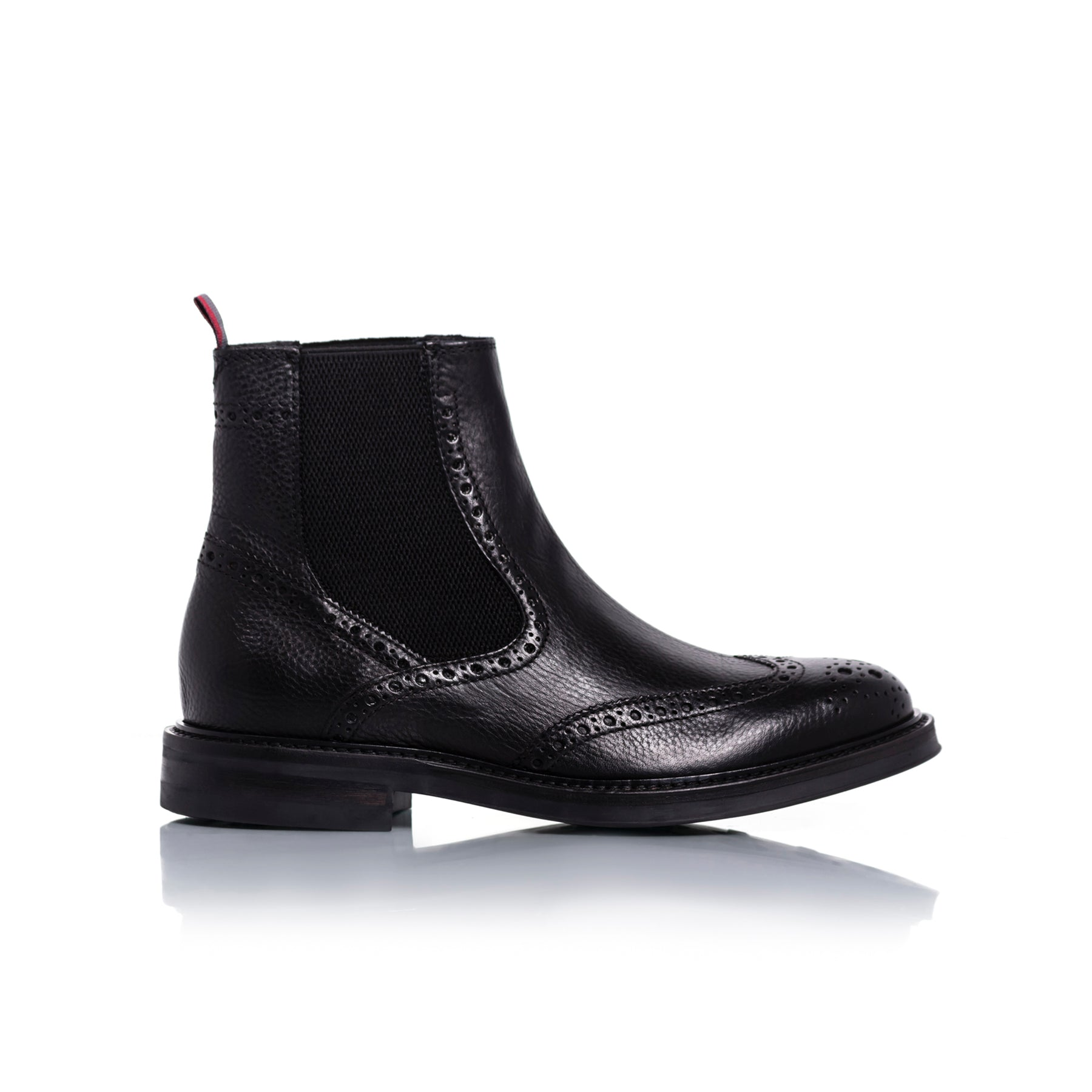 Basil Black Leather Boots