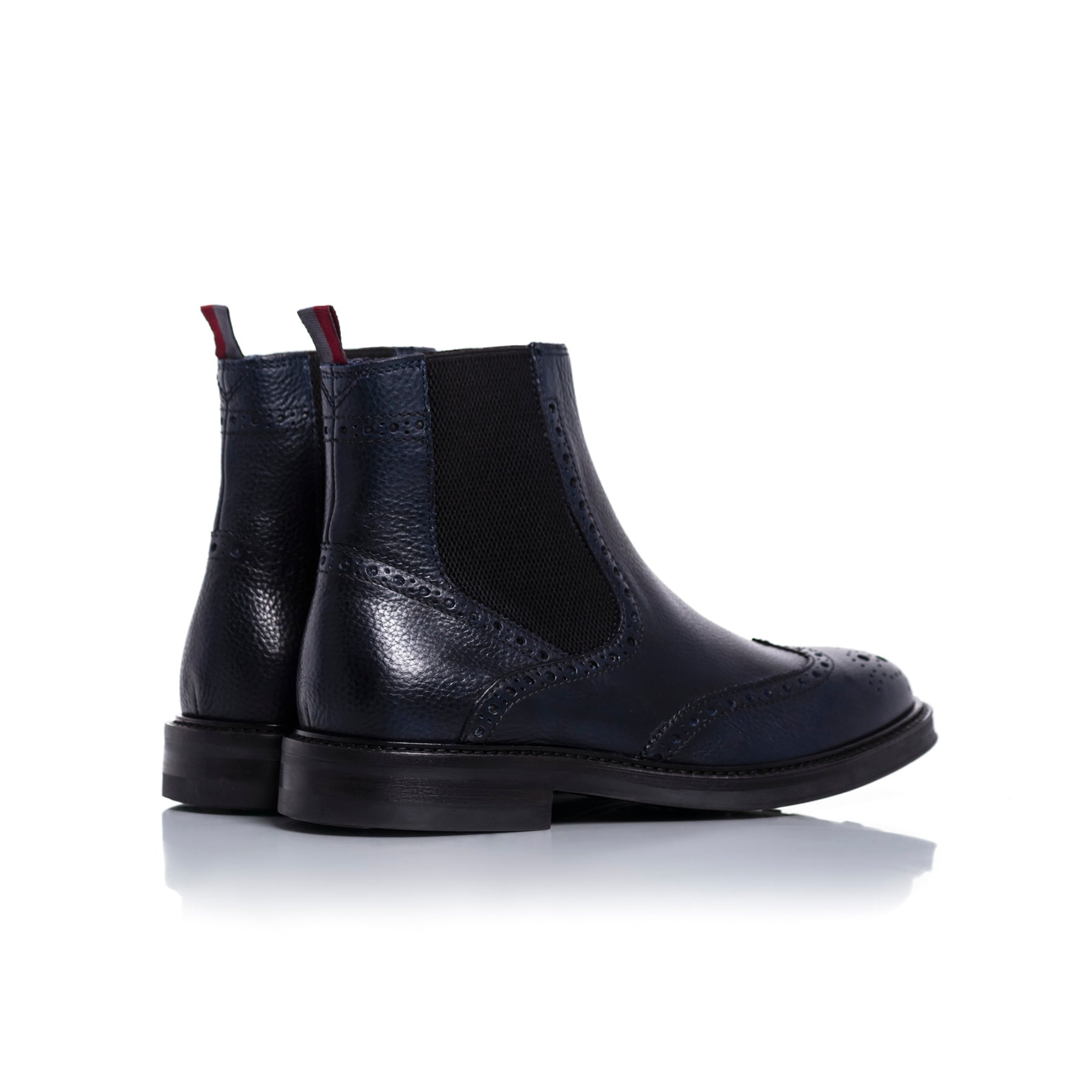 Basil Navy Leather Boots