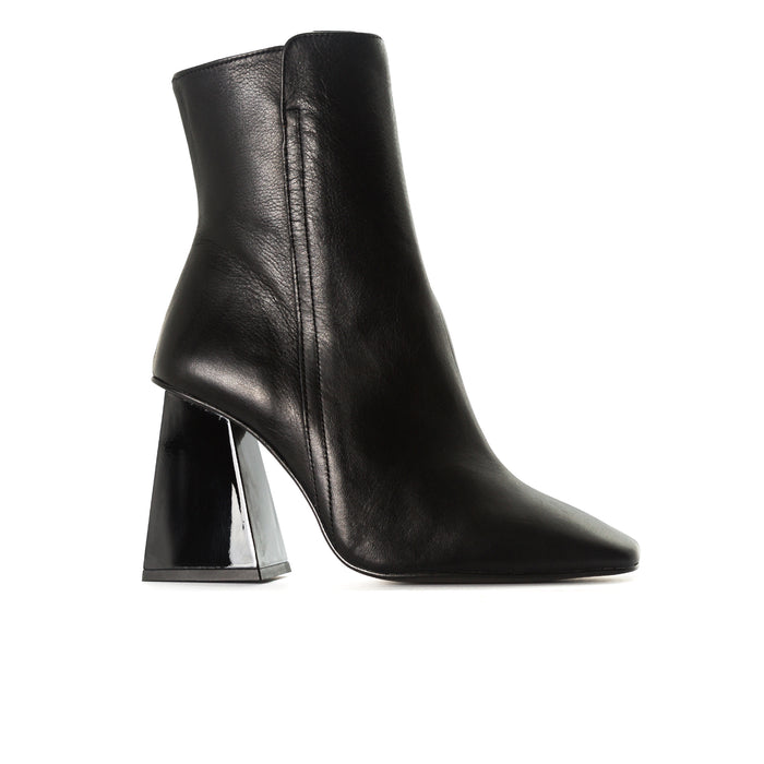 Beaufort Black Leather Ankle Boots