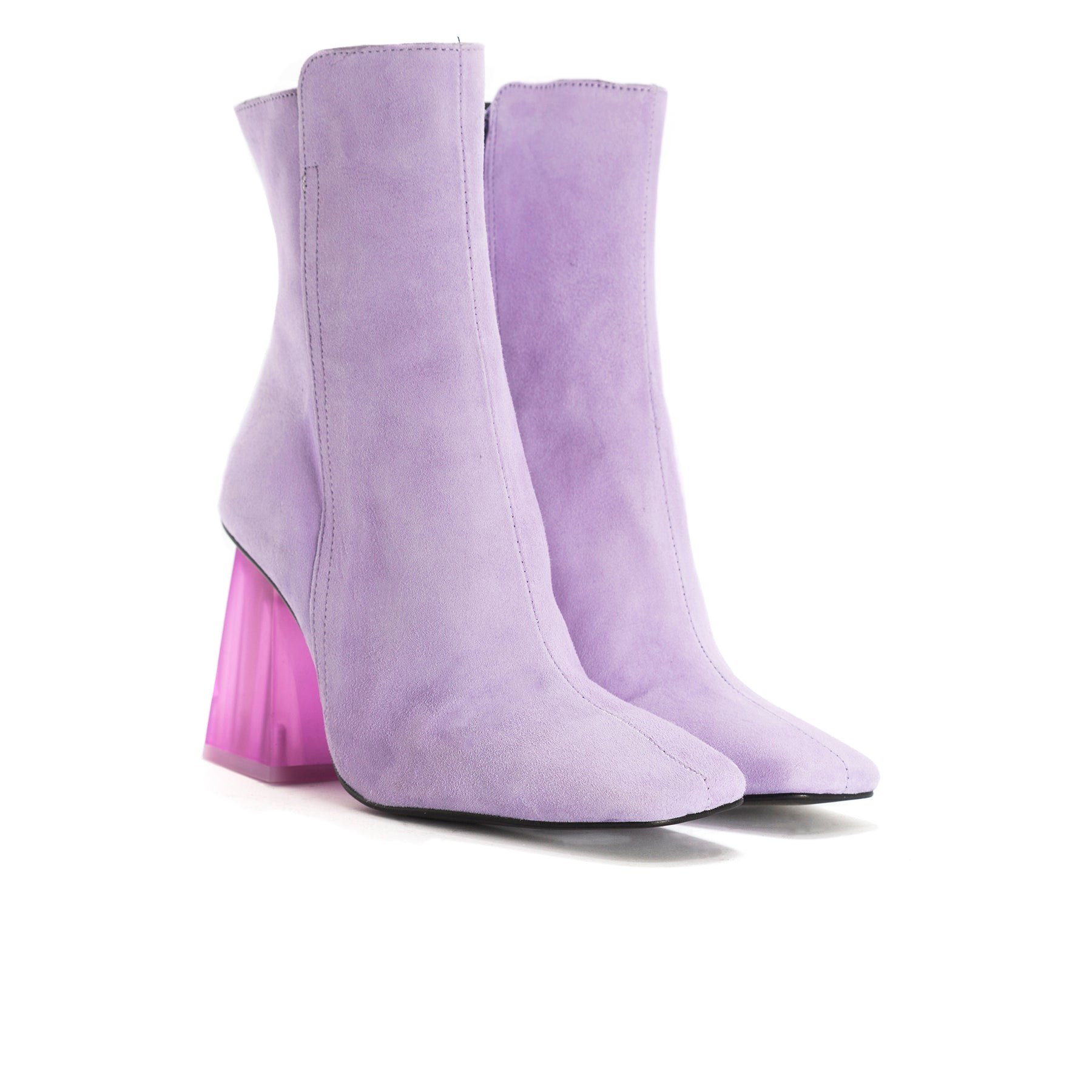 Beaufort Lilac Suede Ankle Boots