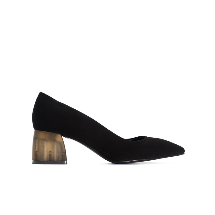 Betheny Black Suede Pumps