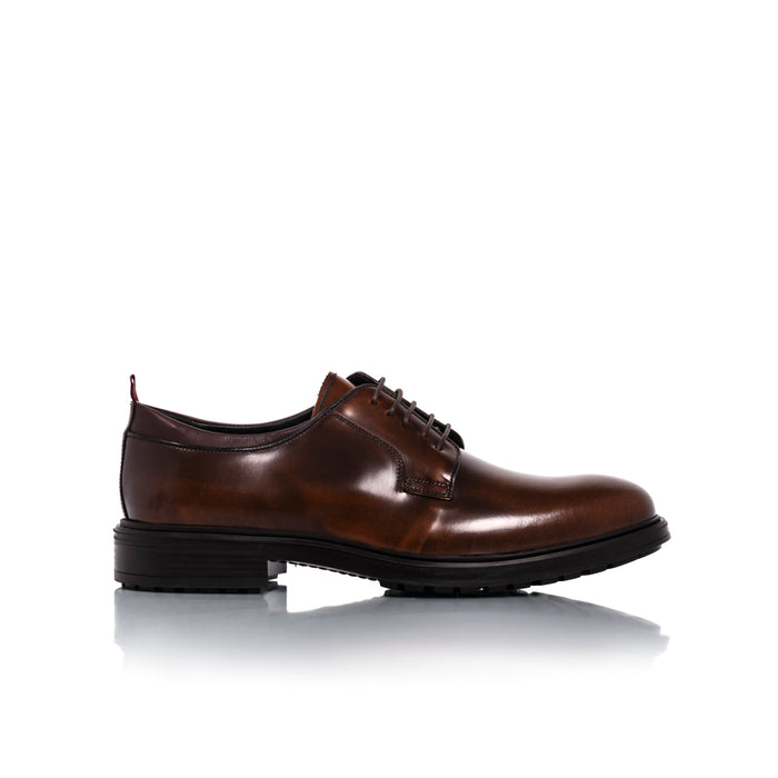 Bill Cognac Leather Shoes