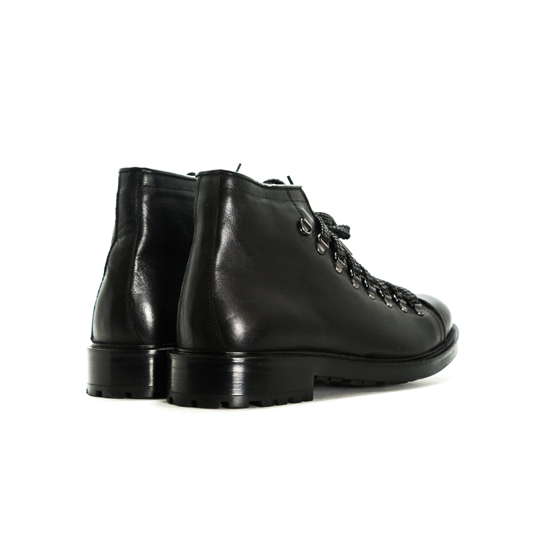 Gaby Black Leather Shoes