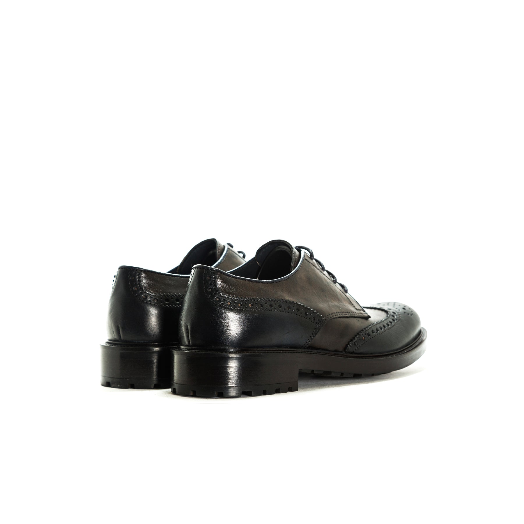 Chaplin Brown/Black Leather Shoes