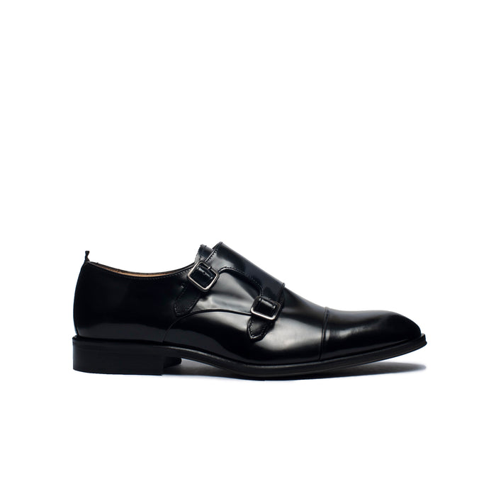 Bobby Black Leather Shoes