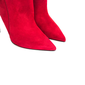Load image into Gallery viewer, Mia Bordeau Nubuck Ankle Boots