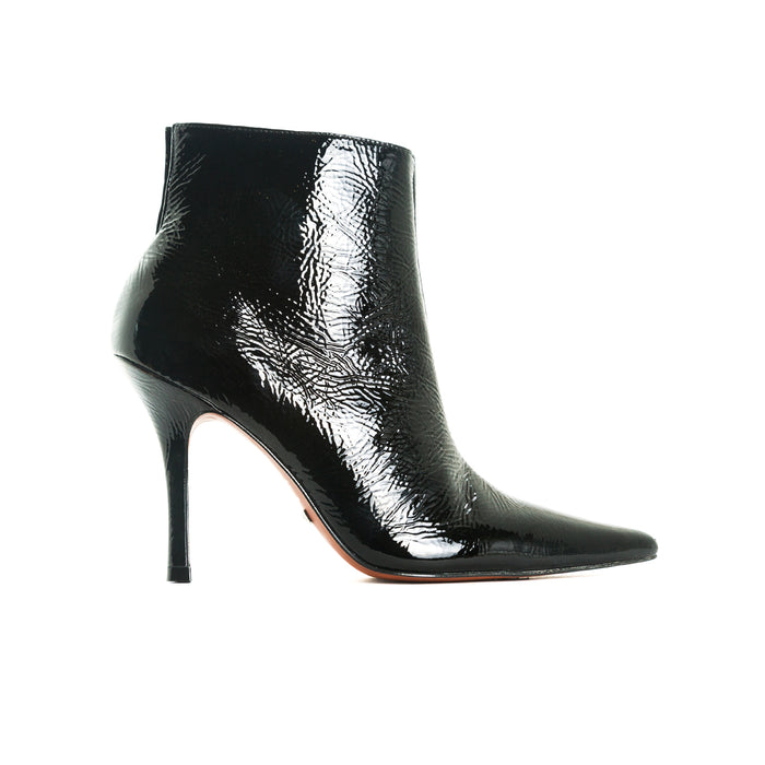 Jessica Black Naplack Ankle Boots