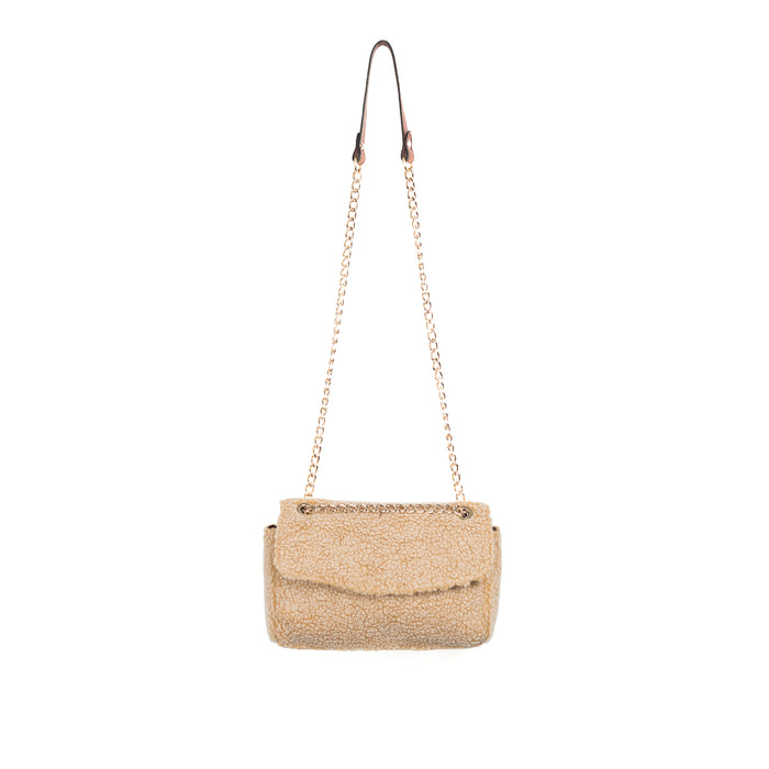 Brigitt Tan Teddy Shoulder Bags