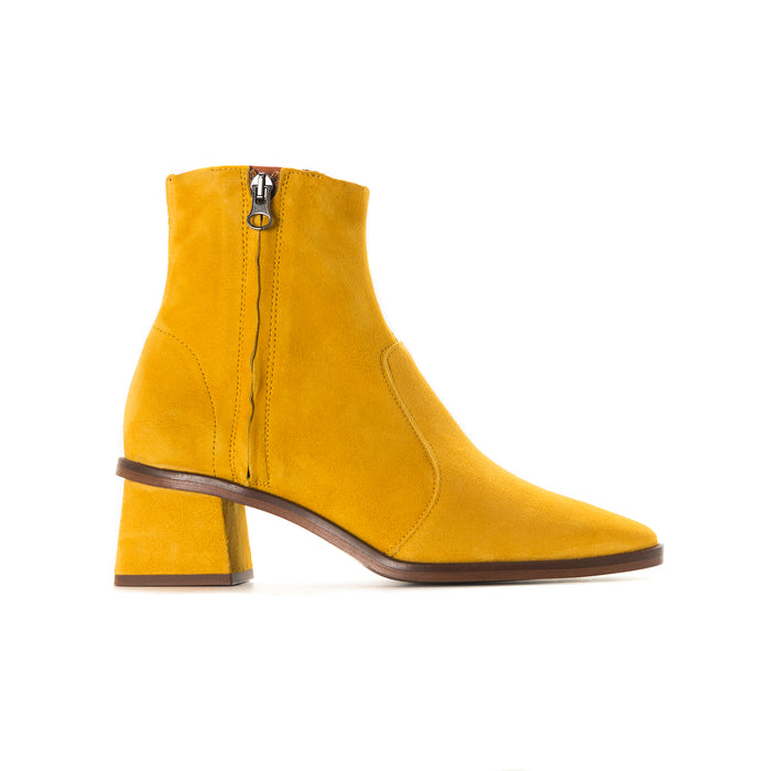 Bristol Mustard Suede Ankle Boots