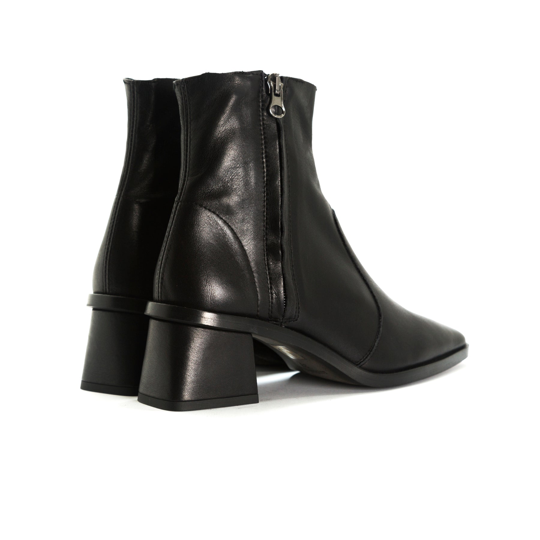 Bristol Black Leather Ankle Boots