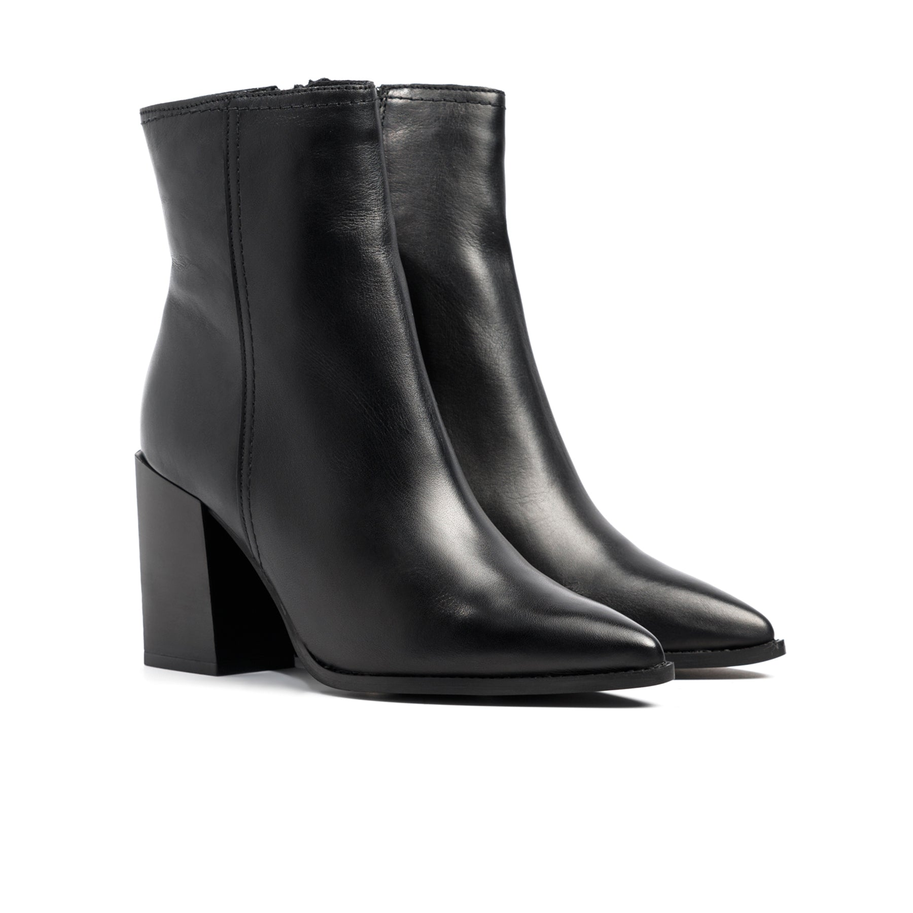 Cairo Black Leather Boots
