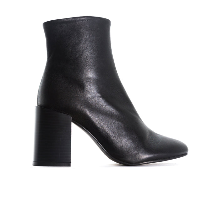 Cannes Black Leather Ankle Boots
