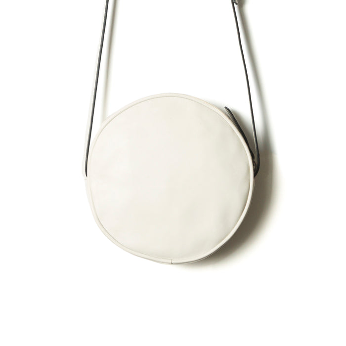 Circle Offwhite Leather Shoulder Bags