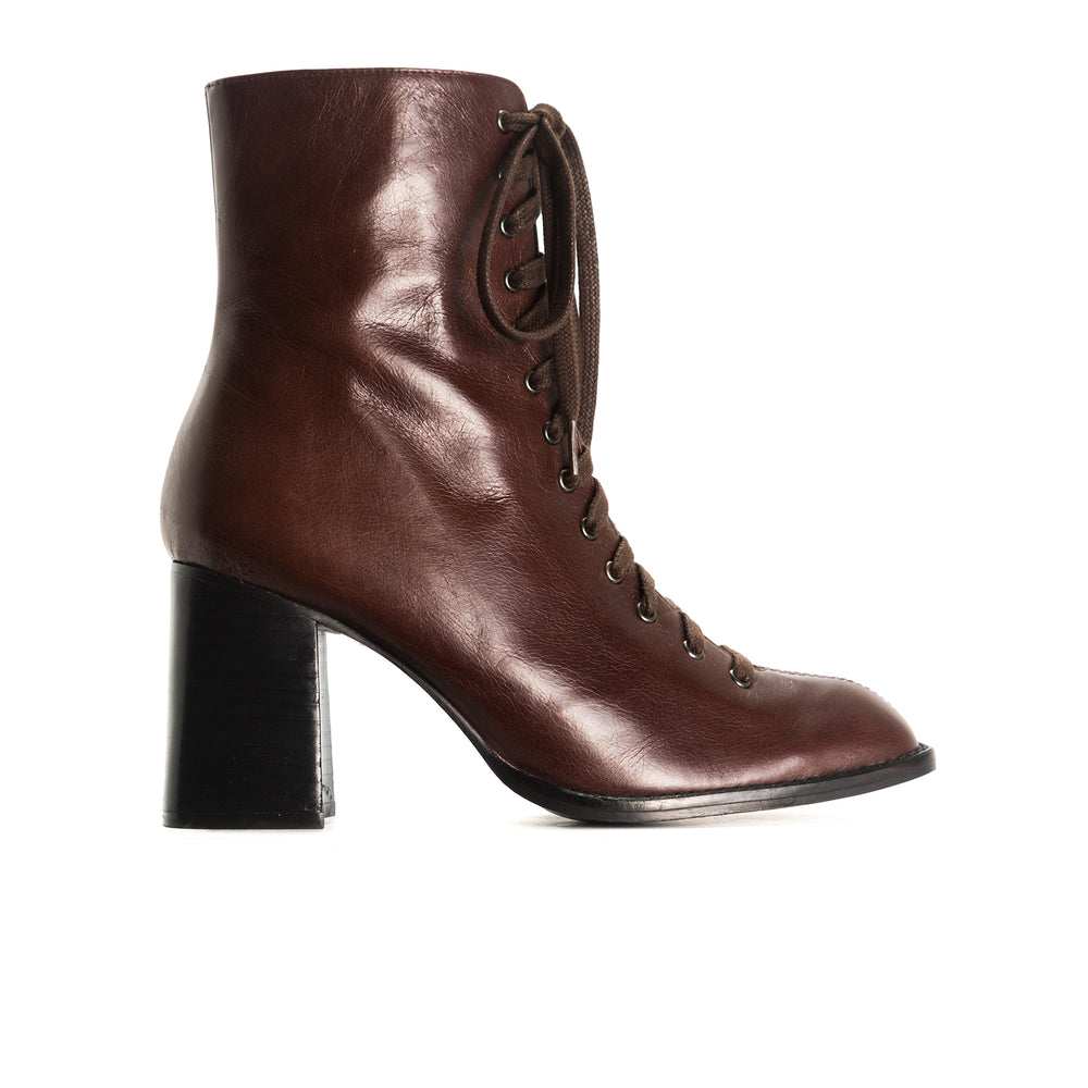 Clayton Brown Leather Ankle Boots