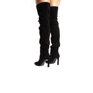 Load image into Gallery viewer, Crete Black Suede Boots