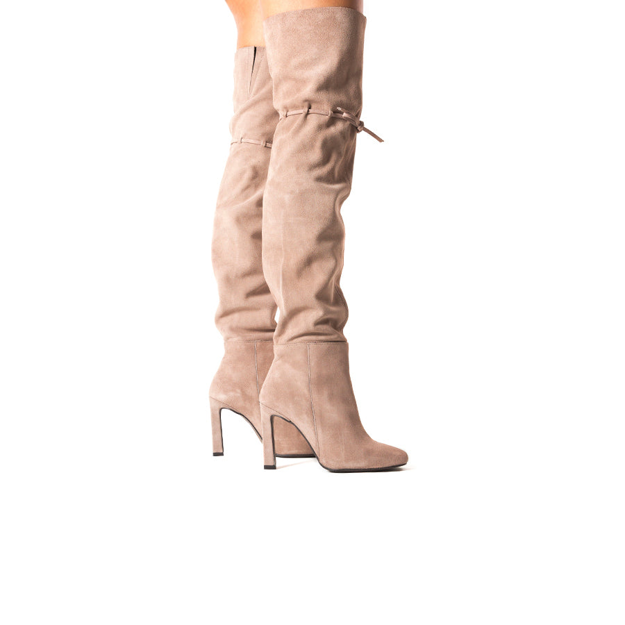 Load image into Gallery viewer, Crete Nude Suede Boots
