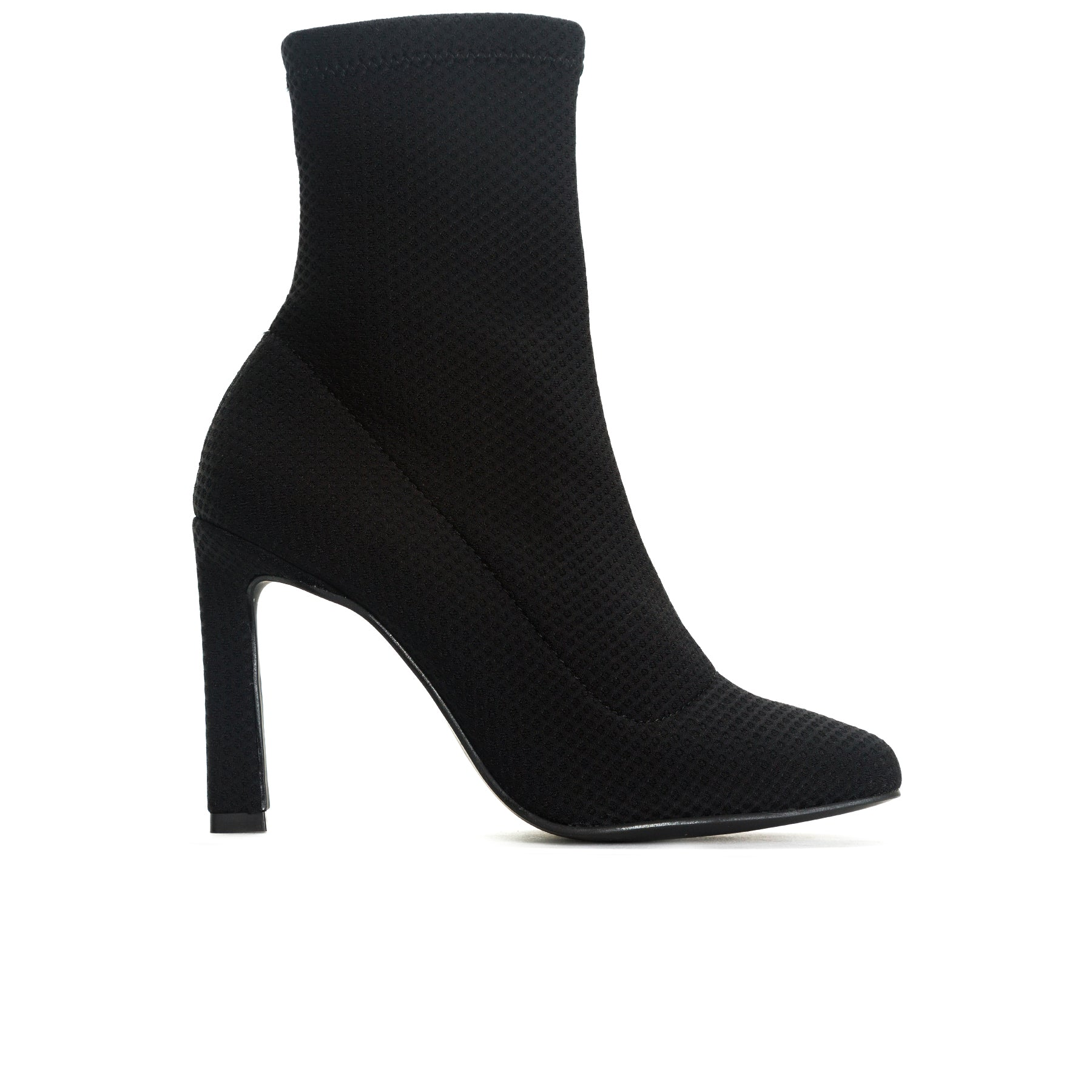 Dafni Black Fabric Ankle Boots