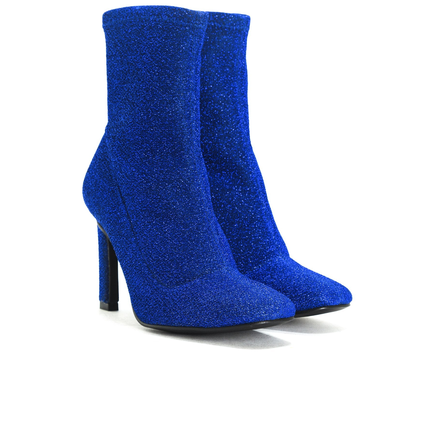 Dafni Blue Stretch Ankle Boots
