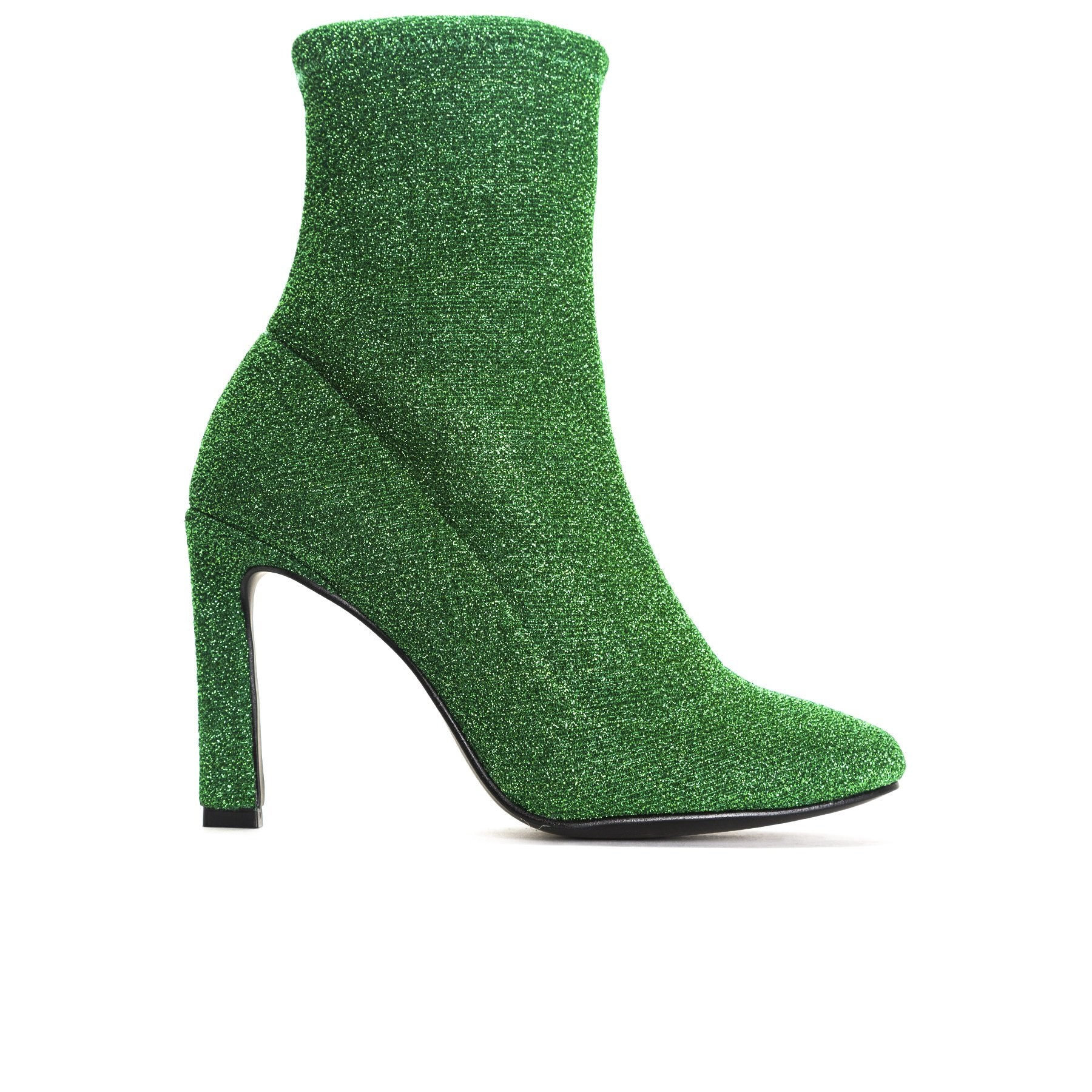 Dafni Green Stretch Ankle Boots