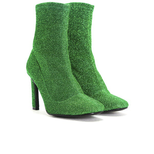 Load image into Gallery viewer, Dafni Green Stretch Ankle Boots