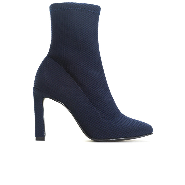Dafni Navy Mesh Ankle Boots