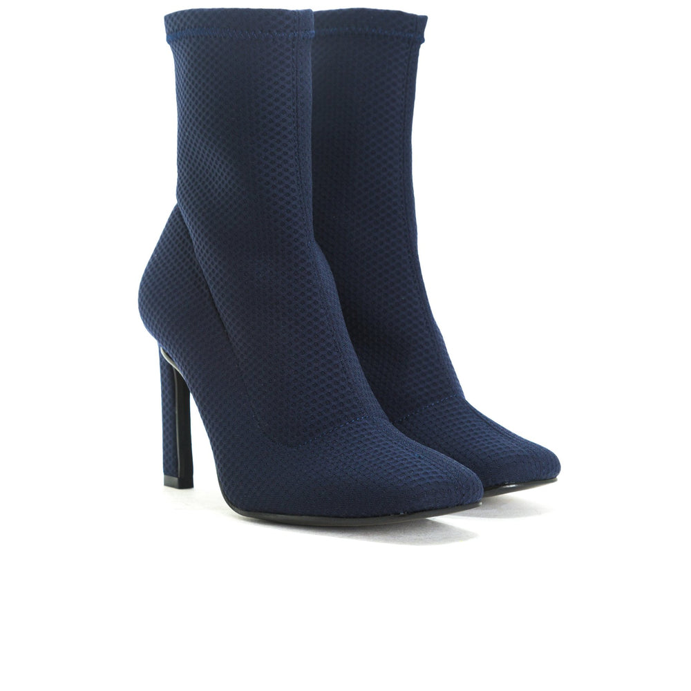 Load image into Gallery viewer, Dafni Navy Mesh Ankle Boots