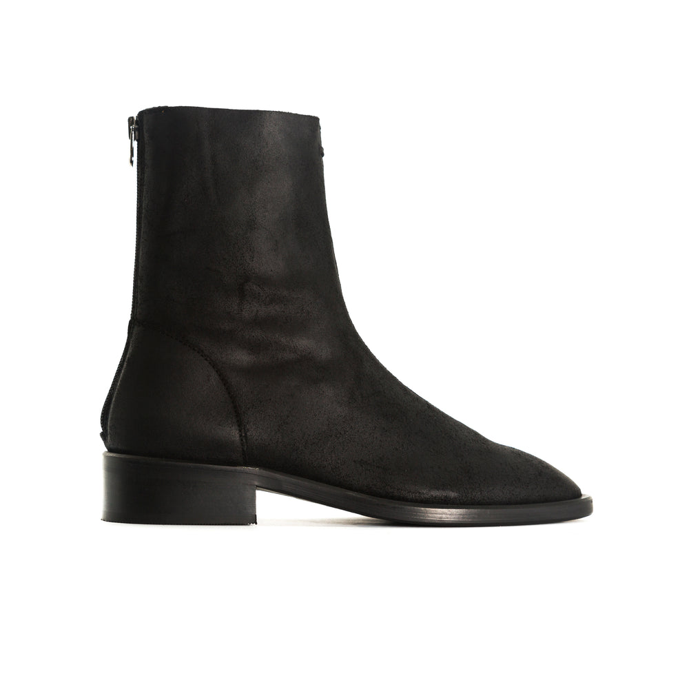 Dalton Black Wax Ankle Boots