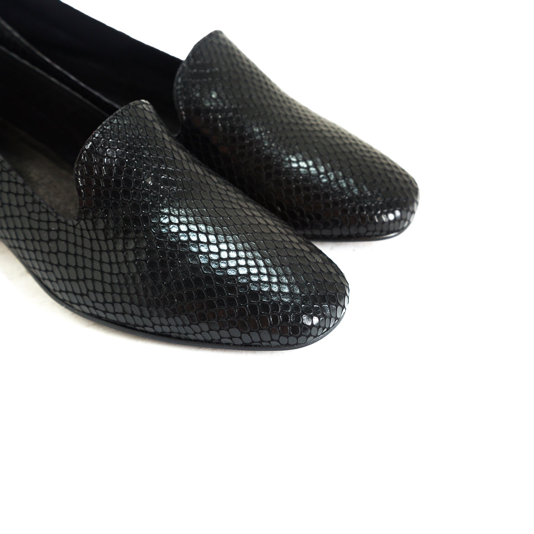 Daria Black Snake Shoes