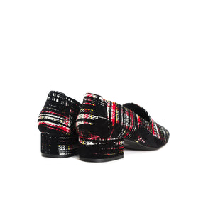 Load image into Gallery viewer, Daria Black Tartan Shoes