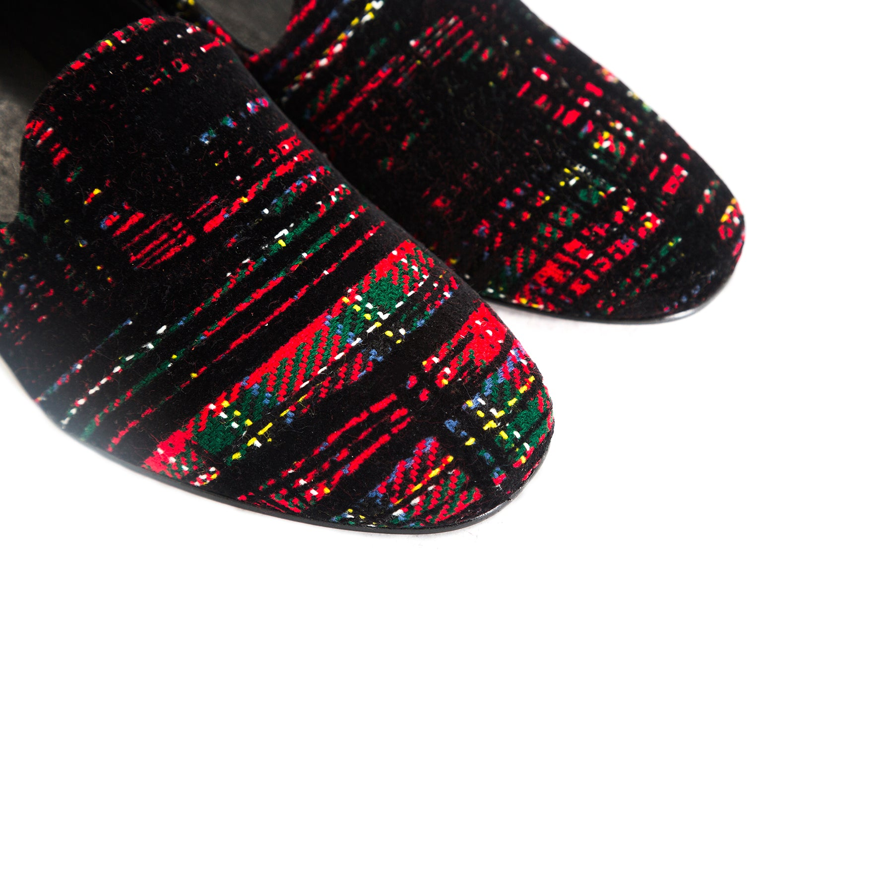 Daria Red Tartan Shoes