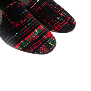 Load image into Gallery viewer, Daria Red Tartan Shoes