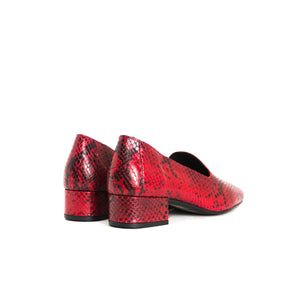 Daria Red Snake Shoes