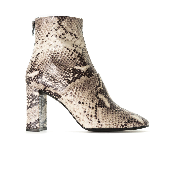 Devika Natural Snake Ankle Boots