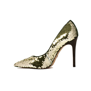 Diana Gold Sequins Pumps