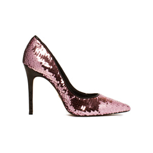 Load image into Gallery viewer, Diana Pink Sequins Pumps