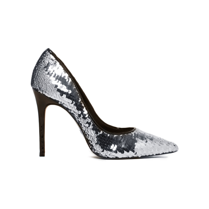 Diana Silver Sequins Pumps