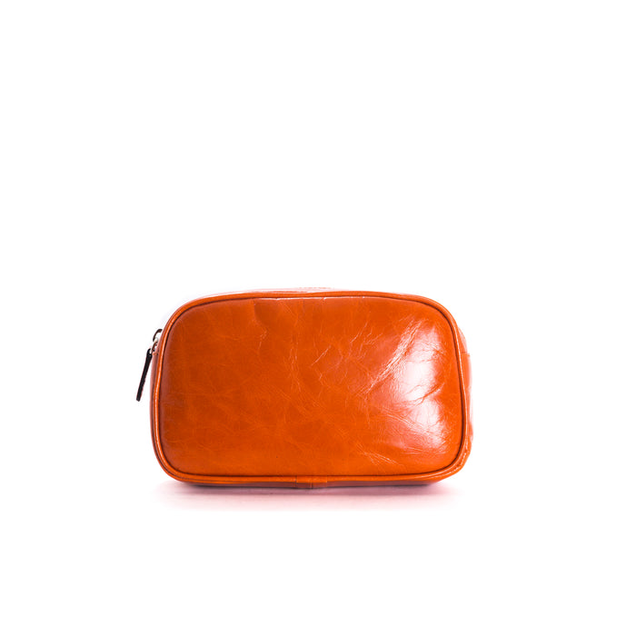 Eda Orange Leather Belt Bag