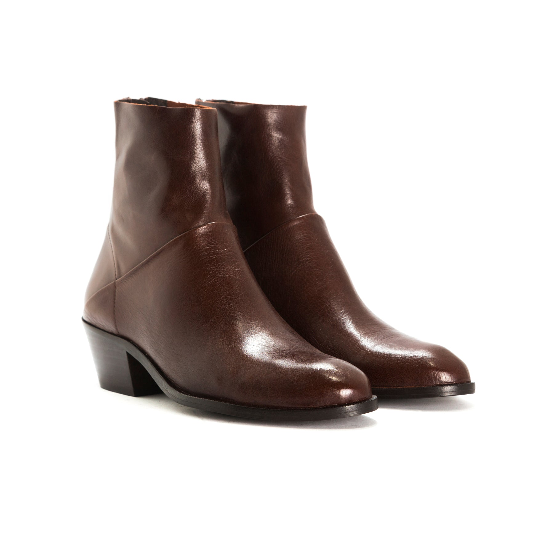 Elpaso Brown Leather Ankle Boots