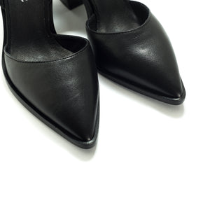 Estefan Black Leather Pumps