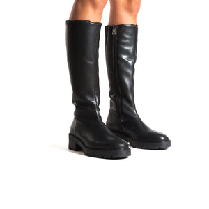 Fituna Black Leather Boots
