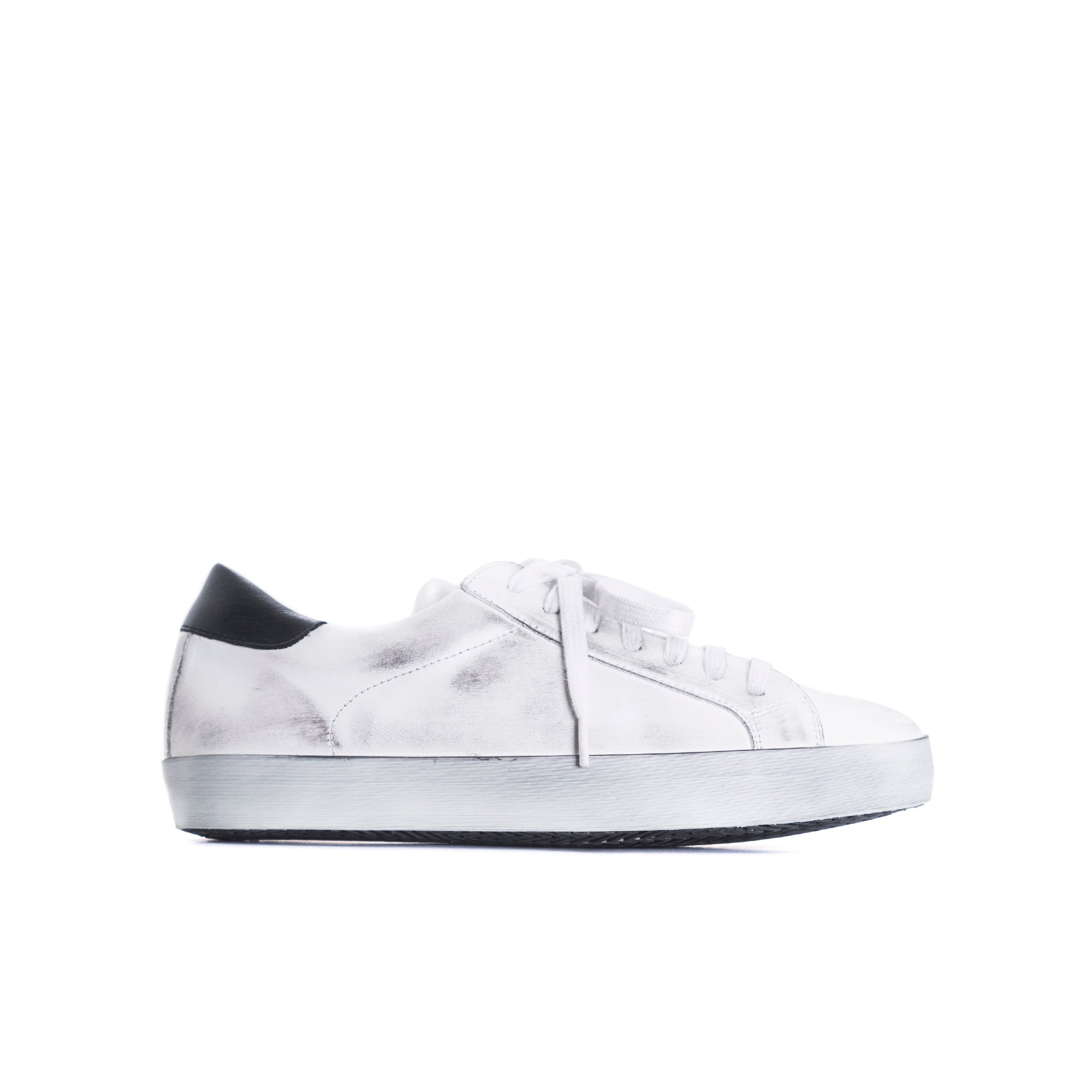 Gaelle White Distress Leather