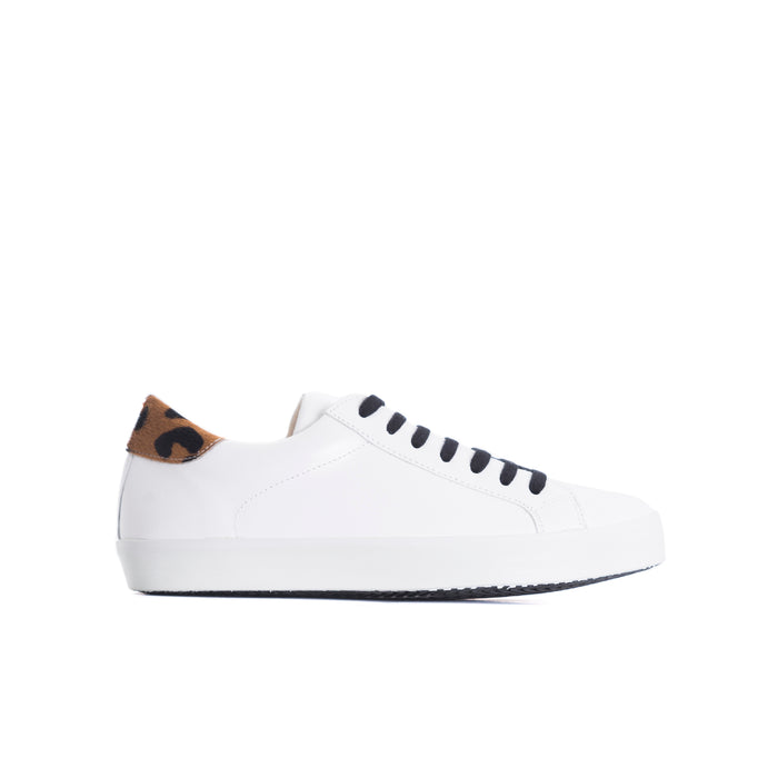 Gaelle White/Pony Leather