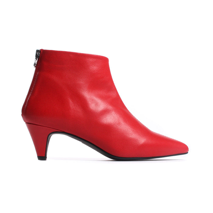 Georgette Red Leather