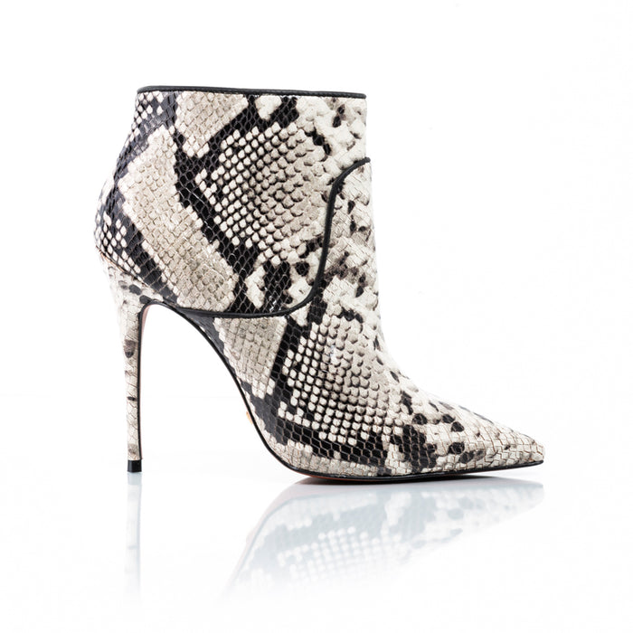 Glamour Natural Snake Ankle Boots