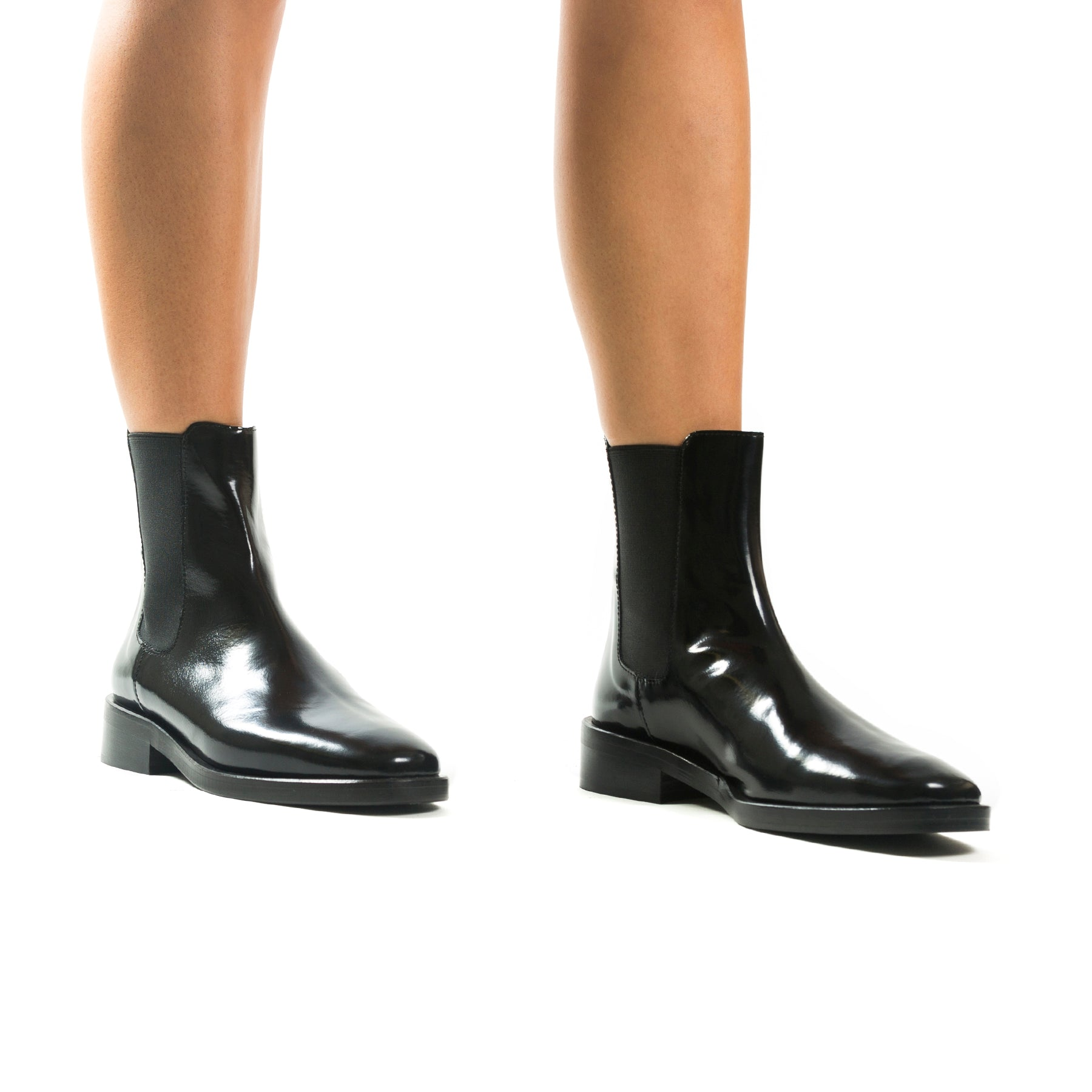 Halifax Black Box Ankle Boots