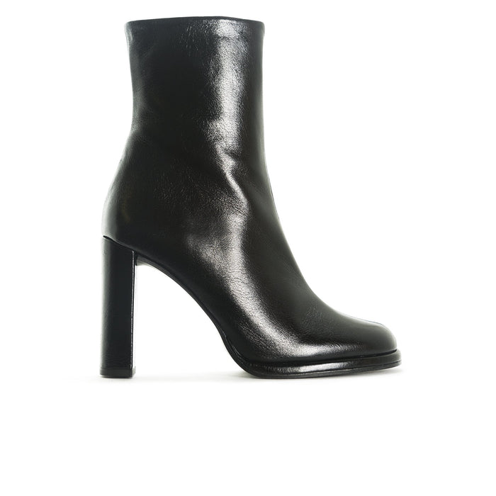 Hamton Black Leather Booties
