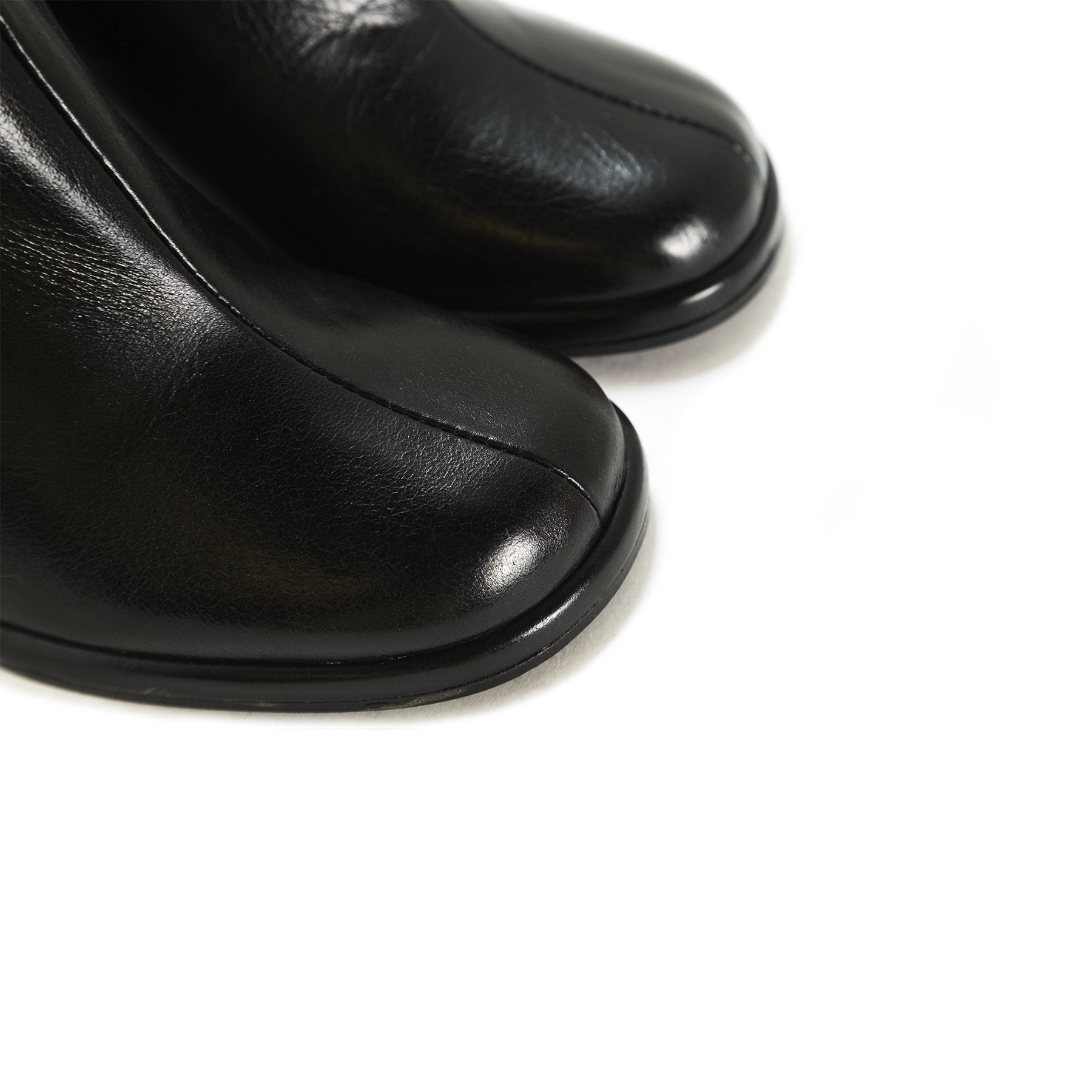 Hampton Black Leather Booties