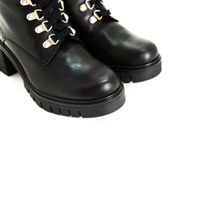 Load image into Gallery viewer, Hani Black Leather Boots